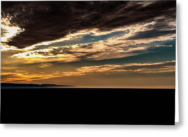 Cloudy Sunset Greeting Card by Onyonet  Photo Studios