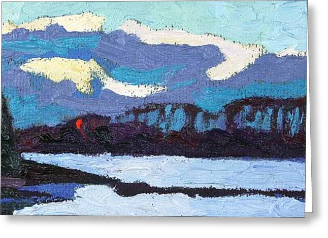 Cloudy Sunset Greeting Card by Phil Chadwick