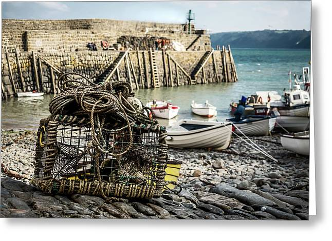 Clovelly Crab Trap Greeting Card