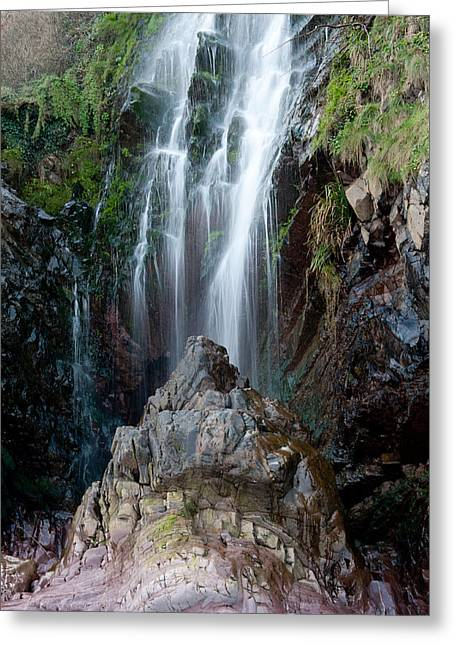 Clovelly Waterfall Greeting Card