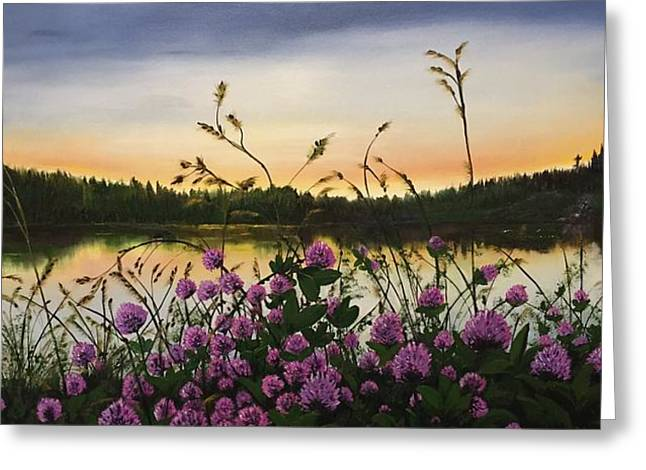 Clover Sunrise  Greeting Card