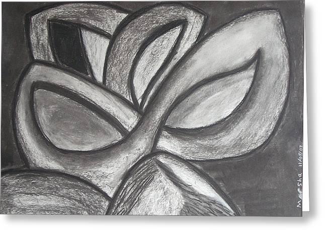 Clover Leaf Greeting Card by Marsha Ferguson
