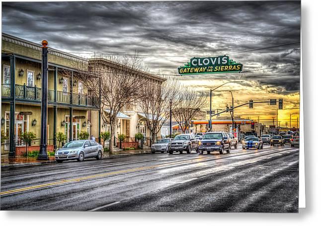 Clovis California Greeting Card by Spencer McDonald