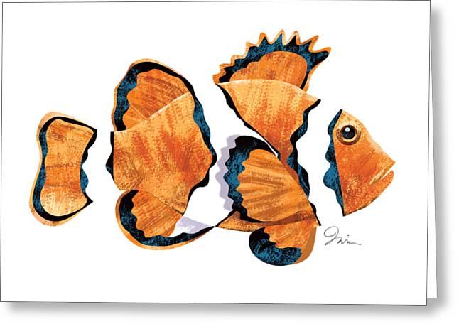 Clown Fish 001 Greeting Card
