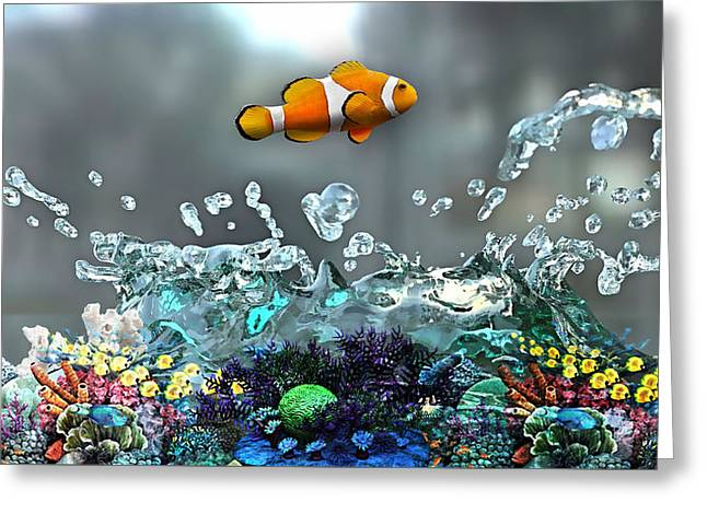 Clown Fish Collection Greeting Card by Marvin Blaine