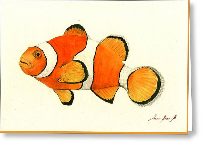 Clown Fish Greeting Card by Juan Bosco