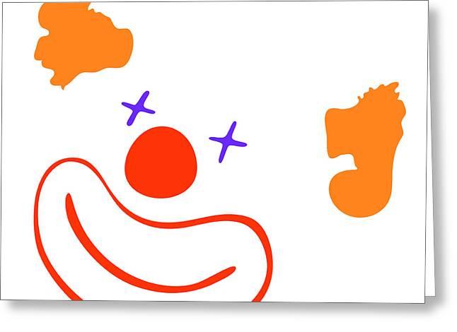 Clown Greeting Card by Michal Boubin