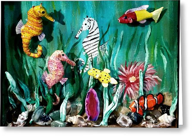 Clown Party In The Sea Greeting Card