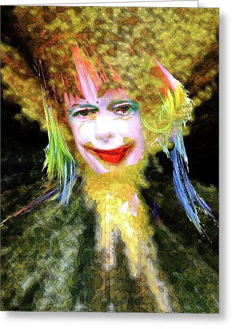 Clown Greeting Card by Robert Sloan