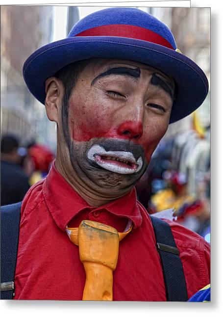 Clown Greeting Card by Robert Ullmann
