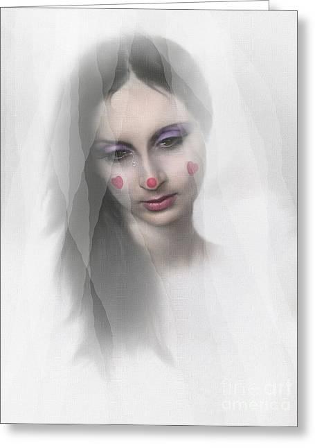 Clown Tear Greeting Card