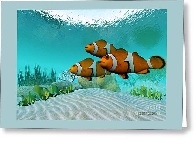 Clownfish Greeting Card by Corey Ford