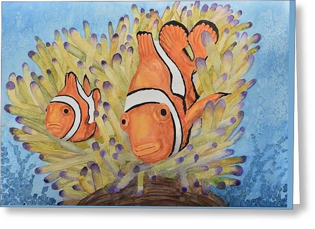 Clownfish Greeting Card by Linda Brody