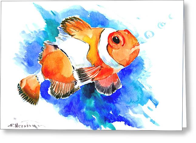 Clownfish Greeting Card by Suren Nersisyan