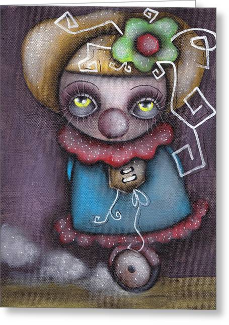 Clowning Around Greeting Card by  Abril Andrade Griffith