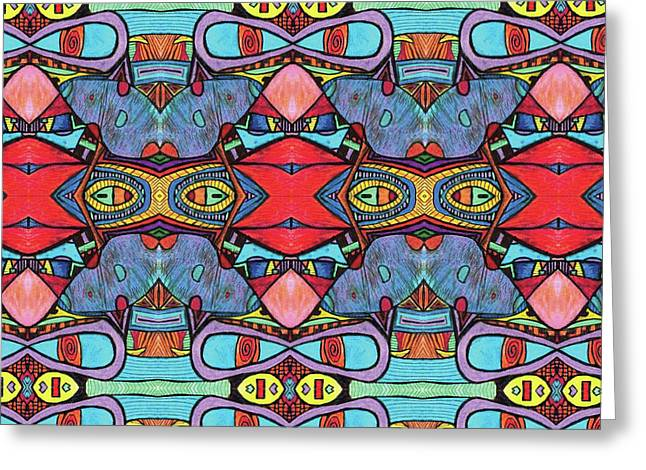 Clowning Around With Psychedelica Greeting Card by Shawn Ballard