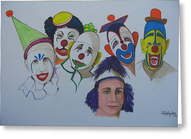 Clowns Greeting Card