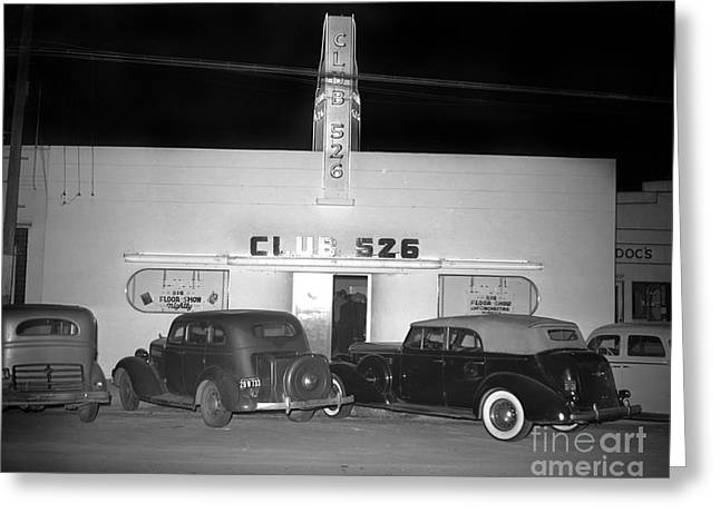 Club 526  Henry Franci, Salinas 1941 Greeting Card