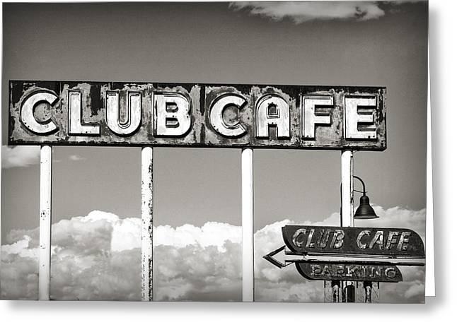 Club Cafe Greeting Card
