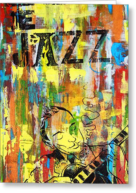 Club Greeting Cards - Club de Jazz Greeting Card by Sean Hagan