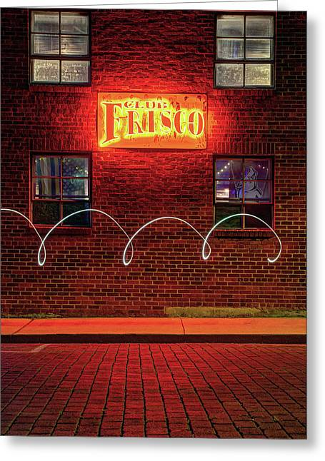 Club Frisco Motion - Rogers Arkansas Usa Greeting Card by Gregory Ballos