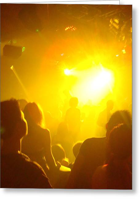 Club Lights Greeting Card by Jeff Porter