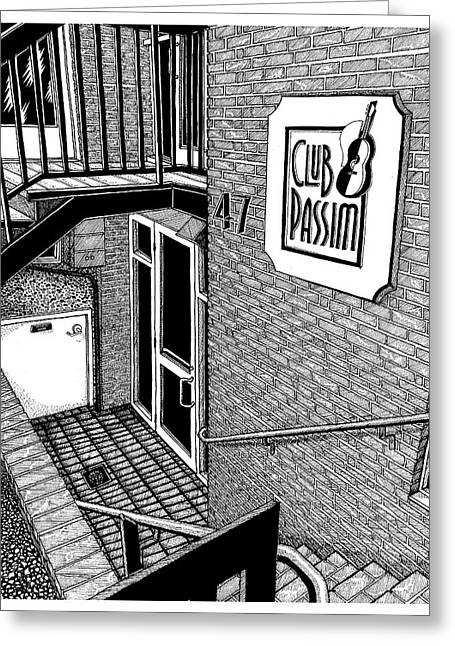 Club Passim, Cambridge, Ma Greeting Card by Conor Plunkett