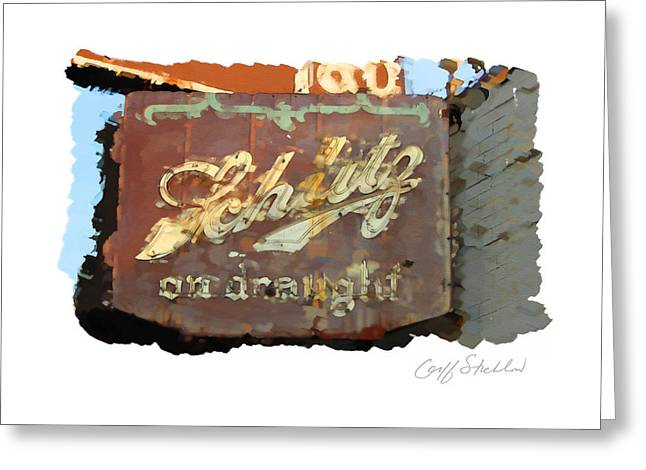 Club Tap Sign Greeting Card by Geoff Strehlow