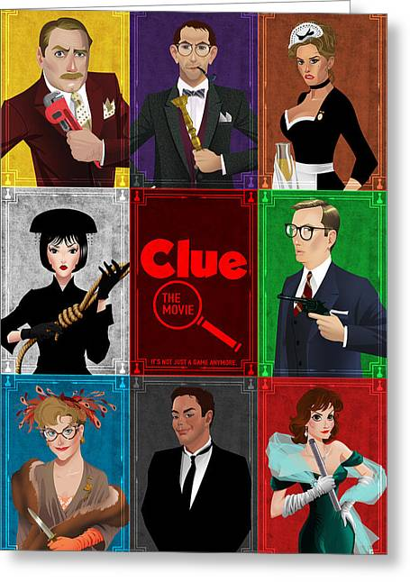 Clue Greeting Card by Christopher Ables