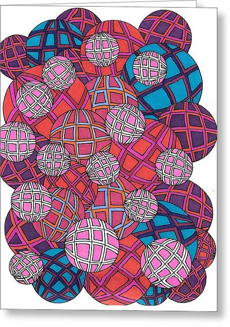 Cluster Of Spheres Greeting Card