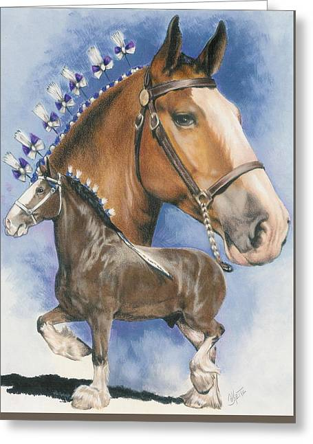 Clydesdale Greeting Card by Barbara Keith