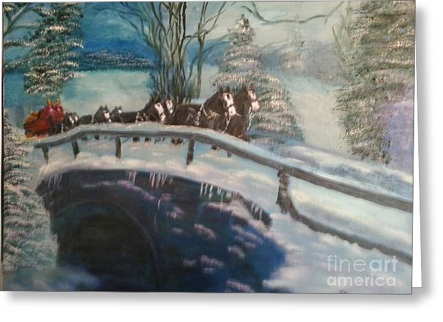 Clydesdales Greeting Card by Sharon DeFreese
