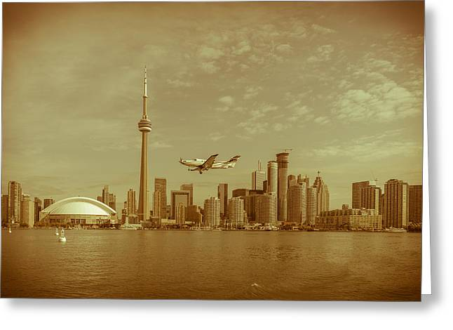 Cn Tower Drive-by Greeting Card