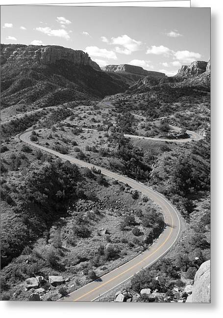 Cnm Switchbacks Greeting Card
