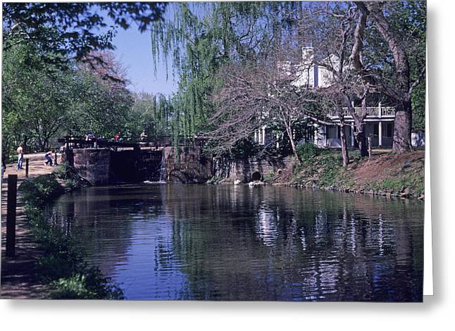 Co Canal Lockhouse Greeting Card by Dennis Dismachek