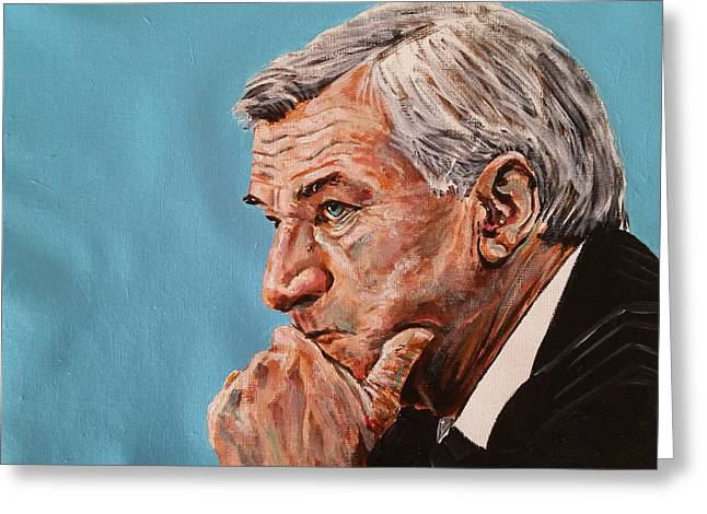 Coach Dean Smith Greeting Card