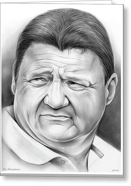 Coach Orgeron Greeting Card