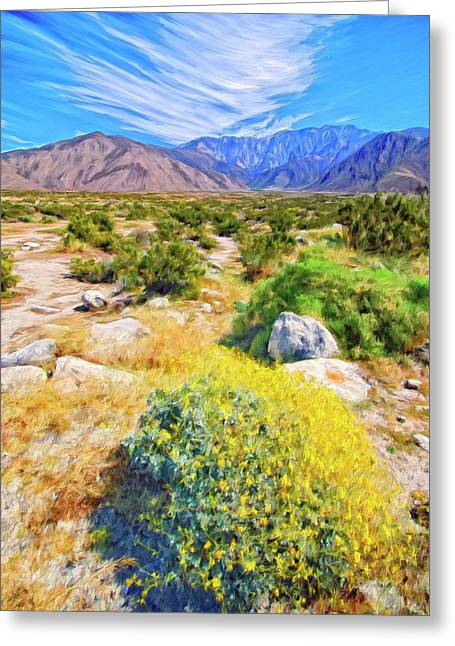 Coachella Spring Greeting Card by Dominic Piperata