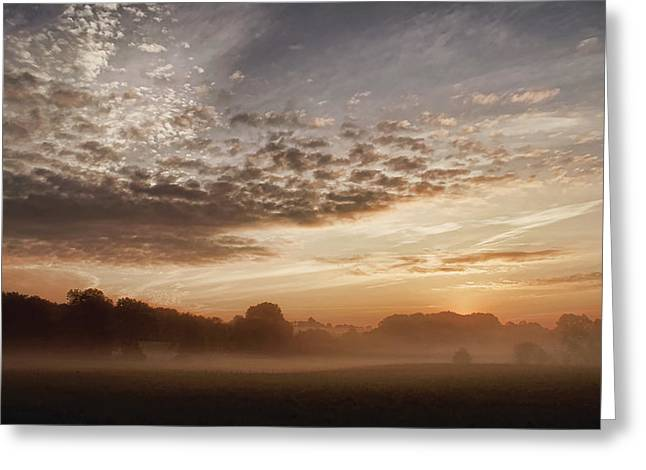 Greeting Card featuring the photograph Coagh Dawn by Colin Clarke