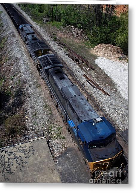 Coal Crossing Greeting Card by Kelvin Booker