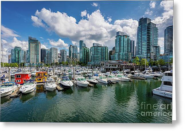 Coal Harbor Greeting Card by Inge Johnsson