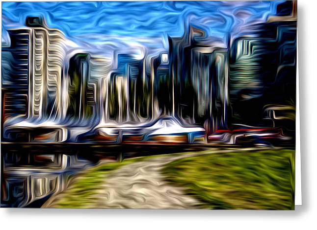 Coal Harbour Buildings Greeting Card by Julius Reque