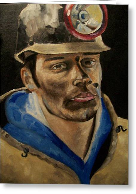Coal Miner Greeting Card by Mikayla Ziegler