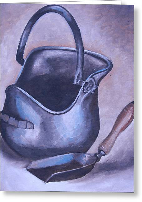 Coal Pail Greeting Card by Mikayla Ziegler