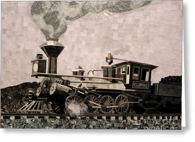 Coal Train To Kalamazoo Greeting Card