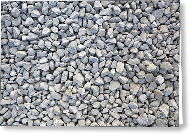 Coarse Gravel - Stone Texture Greeting Card by Michal Boubin
