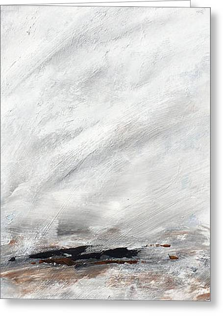 Coast #14 Ocean Landscape Original Fine Art Acrylic On Canvas Greeting Card