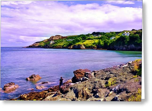 Rocky Coast At Howth Greeting Card