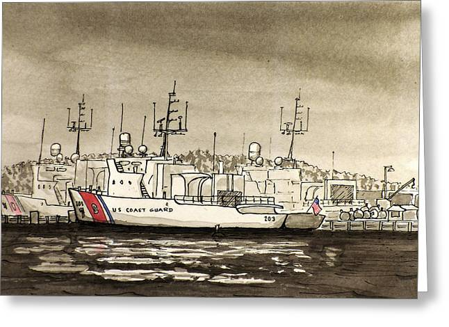 Coast Guard Base Portsmouth Greeting Card