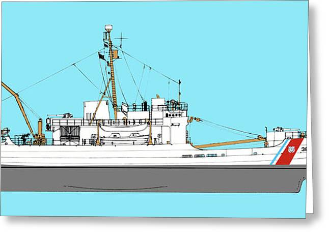 Coast Guard Cutter Storis Greeting Card by Jerry McElroy